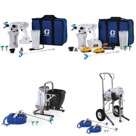 Gamme sanispray Hp Graco Airless désinfectant